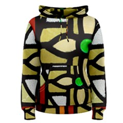 A Detail Of A Stained Glass Window Women s Pullover Hoodie