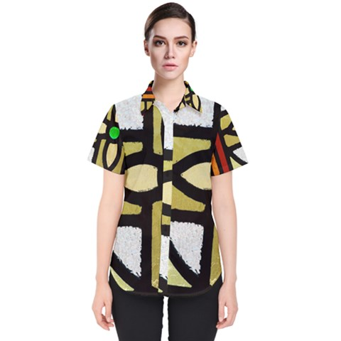 A Detail Of A Stained Glass Window Women s Short Sleeve Shirt by Jojostore