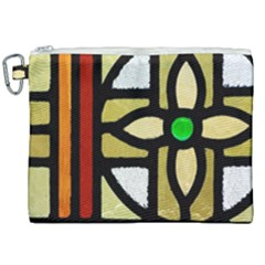 A Detail Of A Stained Glass Window Canvas Cosmetic Bag (xxl) by Jojostore