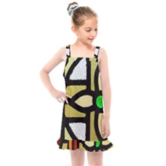 A Detail Of A Stained Glass Window Kids  Overall Dress by Jojostore