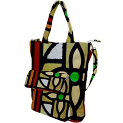 A Detail Of A Stained Glass Window Shoulder Tote Bag