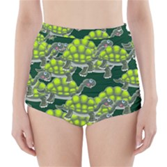 Seamless Tile Background Abstract Turtle Turtles High Waisted Bikini Bottoms