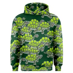 Seamless Tile Background Abstract Turtle Turtles Men s Overhead Hoodie