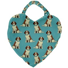 Dog Animal Pattern Giant Heart Shaped Tote by Jojostore