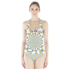 Tech Neon And Glow Backgrounds Psychedelic Art Psychedelic Art Halter Swimsuit