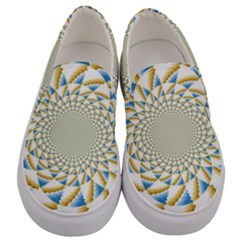 Tech Neon And Glow Backgrounds Psychedelic Art Psychedelic Art Men s Canvas Slip Ons