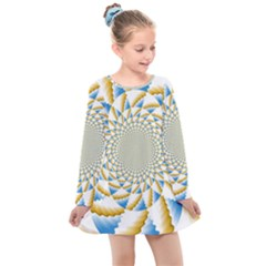 Tech Neon And Glow Backgrounds Psychedelic Art Psychedelic Art Kids  Long Sleeve Dress