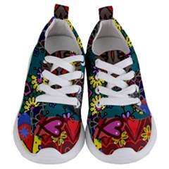 Digitally Created Abstract Patchwork Collage Pattern Kids  Lightweight Sports Shoes