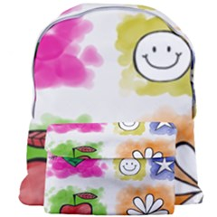 A Set Of Watercolour Icons Giant Full Print Backpack