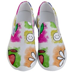 A Set Of Watercolour Icons Men s Lightweight Slip Ons