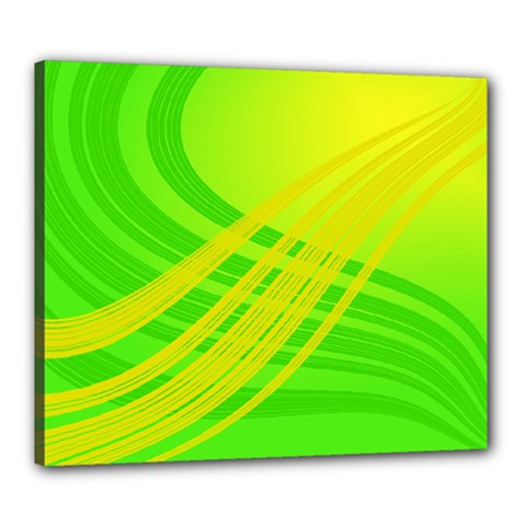 Abstract Green Yellow Background Canvas 24  X 20  (stretched)