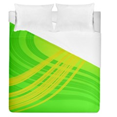 Abstract Green Yellow Background Duvet Cover (queen Size)
