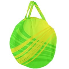Abstract Green Yellow Background Giant Round Zipper Tote by Jojostore