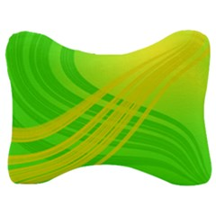 Abstract Green Yellow Background Velour Seat Head Rest Cushion by Jojostore