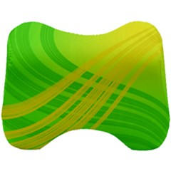 Abstract Green Yellow Background Head Support Cushion by Jojostore