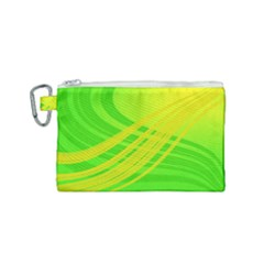 Abstract Green Yellow Background Canvas Cosmetic Bag (small)