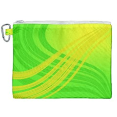 Abstract Green Yellow Background Canvas Cosmetic Bag (xxl) by Jojostore