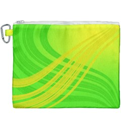 Abstract Green Yellow Background Canvas Cosmetic Bag (xxxl) by Jojostore