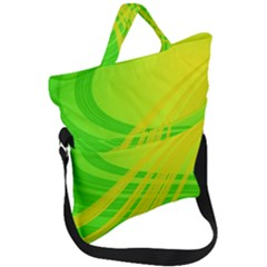Abstract Green Yellow Background Fold Over Handle Tote Bag by Jojostore