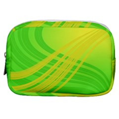 Abstract Green Yellow Background Make Up Pouch (small) by Jojostore