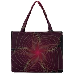 Fractal Red Star Isolated On Black Background Mini Tote Bag