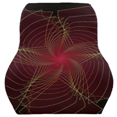 Fractal Red Star Isolated On Black Background Car Seat Back Cushion