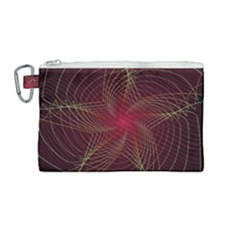 Fractal Red Star Isolated On Black Background Canvas Cosmetic Bag (medium)