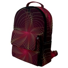 Fractal Red Star Isolated On Black Background Flap Pocket Backpack (small)