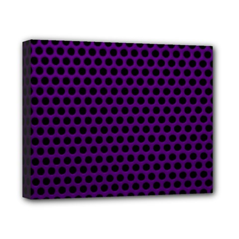 Dark Purple Metal Mesh With Round Holes Texture Canvas 10  X 8  (stretched) by Jojostore