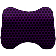 Dark Purple Metal Mesh With Round Holes Texture Head Support Cushion