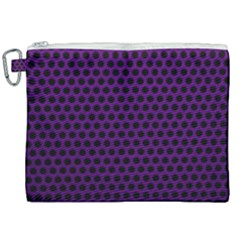 Dark Purple Metal Mesh With Round Holes Texture Canvas Cosmetic Bag (xxl) by Jojostore