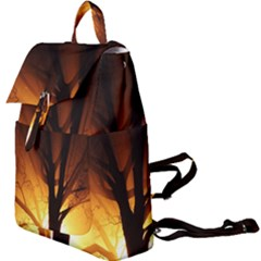Rays Of Light Tree In Fog At Night Buckle Everyday Backpack