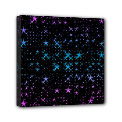 Stars Pattern Seamless Design Mini Canvas 6  X 6  (stretched) by Jojostore