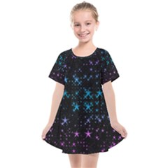 Stars Pattern Seamless Design Kids  Smock Dress