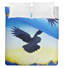 Sunset Owl Duvet Cover Double Side (queen Size)