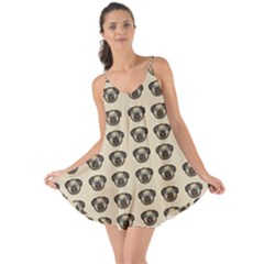 Puppy Dog Pug Pup Graphic Love The Sun Cover Up