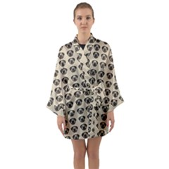 Puppy Dog Pug Pup Graphic Long Sleeve Kimono Robe