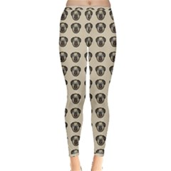 Puppy Dog Pug Pup Graphic Inside Out Leggings