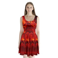 Star Clusters Rosette Nebula Star Split Back Mini Dress