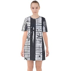 Whitney Museum Of American Art Sixties Short Sleeve Mini Dress