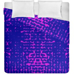 Blue And Pink Pixel Pattern Duvet Cover Double Side (king Size)