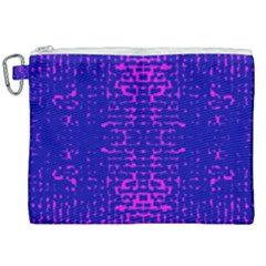 Blue And Pink Pixel Pattern Canvas Cosmetic Bag (xxl)