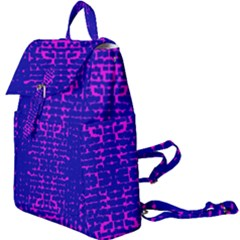 Blue And Pink Pixel Pattern Buckle Everyday Backpack