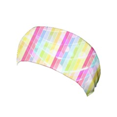 Colorful Abstract Stripes Circles And Waves Wallpaper Background Yoga Headband