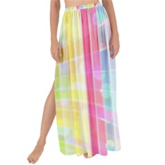 Colorful Abstract Stripes Circles And Waves Wallpaper Background Maxi Chiffon Tie Up Sarong
