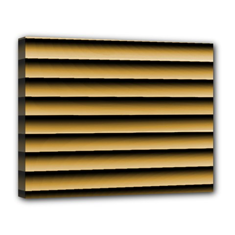 Golden Line Background Canvas 14  X 11  (stretched)