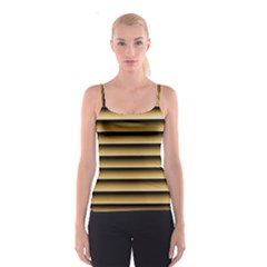Golden Line Background Spaghetti Strap Top