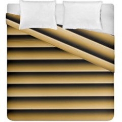Golden Line Background Duvet Cover Double Side (king Size)