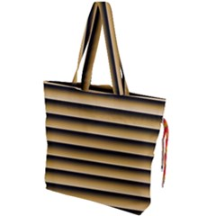 Golden Line Background Drawstring Tote Bag