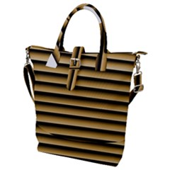 Golden Line Background Buckle Top Tote Bag